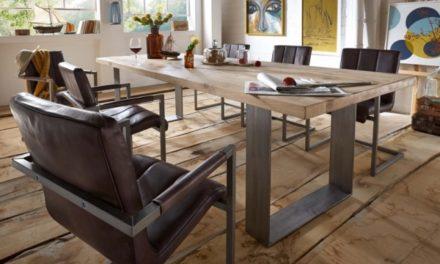 BODAHL Texas spisebord – sand egetræ, plankebord 220 x 110 cm