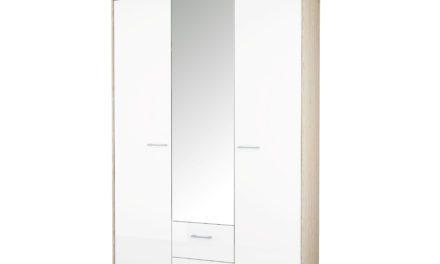 Homeline Garderobeskab 3 låger + 2 skuffer + spejl