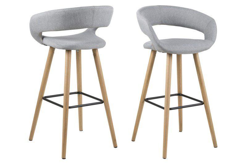 Grace barstol – lysegrå