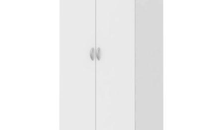 Little garderobeskab i hvid