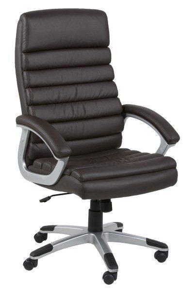 Lyra kontorstol, sort læderlook