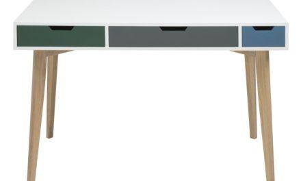 Tess skrivebord med skuffer, hvid
