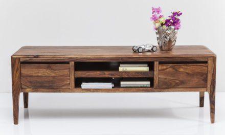KARE DESIGN Brooklyn TV-bord – natur med 2 skuffer og midterrum