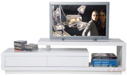 Club TV-bord i hvid – asymmetrisk