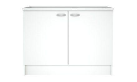Casa underskab i hvid med to låger og plads til vask