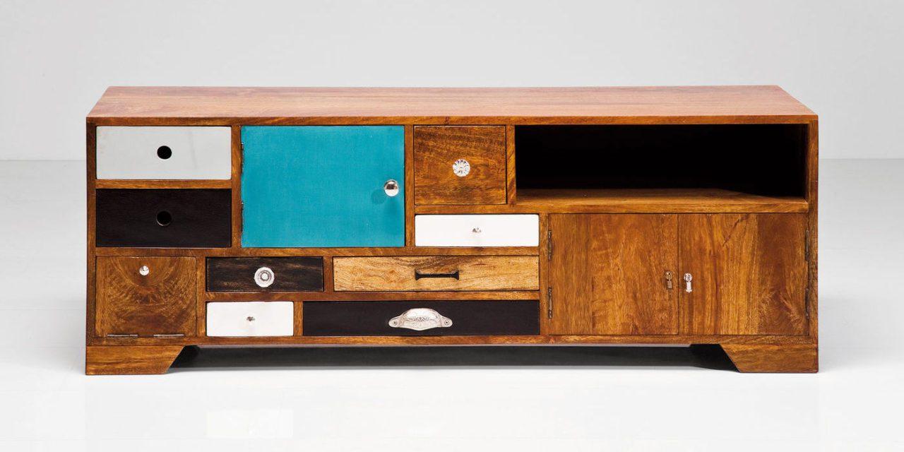TV-bord Babalou i mangotræ – retro
