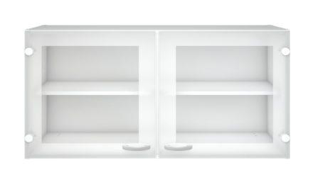 Hvidt Casa overskab med to glaslåger
