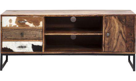 KARE DESIGN Rodeo tv-bord med opbevaring & låger i koskind