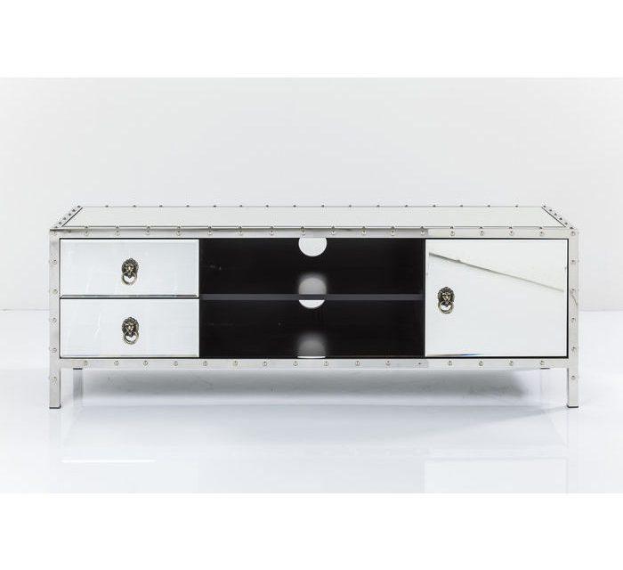 KARE DESIGN Rivet TV-bord – spejlglas med opbevaring