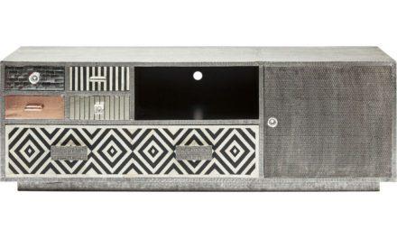 KARE DESIGN Chalet TV-bord – grå/sølv