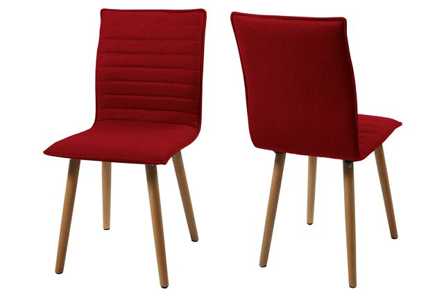 Karla spisebordsstol – rød