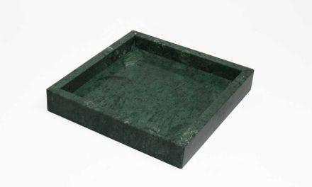 Dunos grøn marmor fad