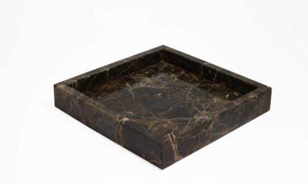Boboonline Dunos fad i flot brunt marmor