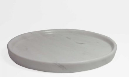 Dunos grå marmor fad