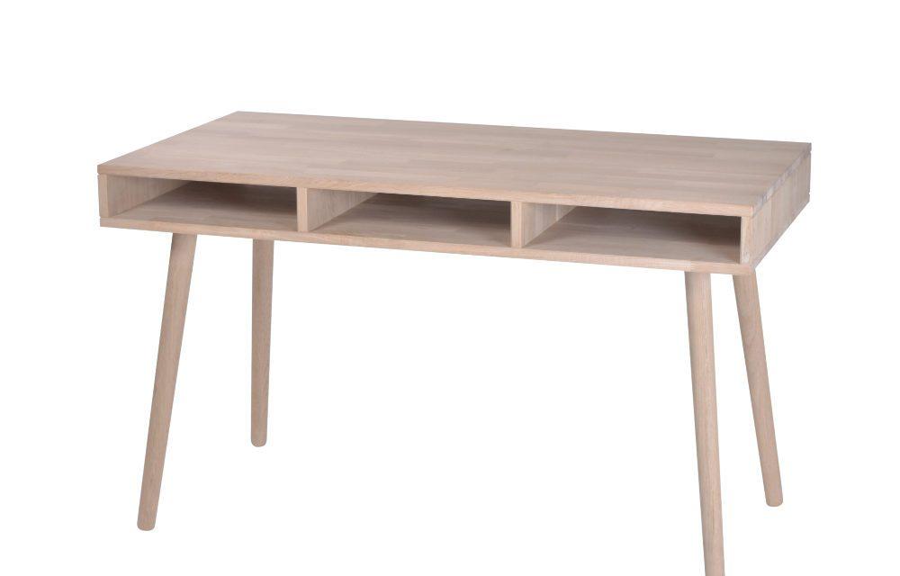 BY TIKA Boston skrivebord med 3 rum