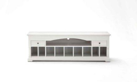 NOVASOLO Provence TV-Bord – hvid i romantisk stil