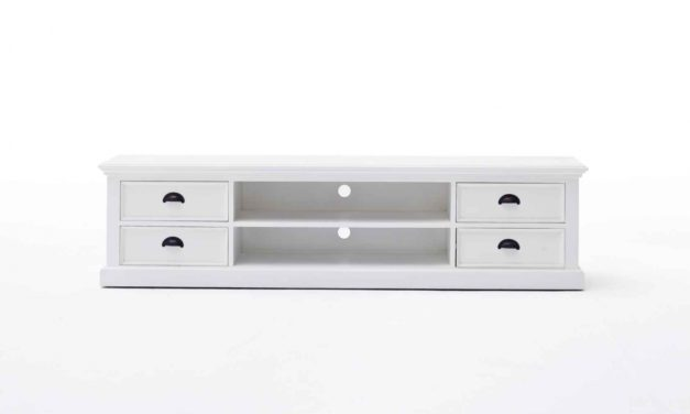 NOVASOLO Stort TV-bord med 4 skuffer