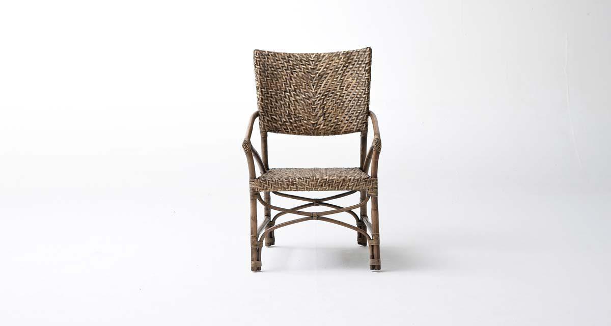 NOVASOLO Wickerworks Jester spisebordsstol med armlæn