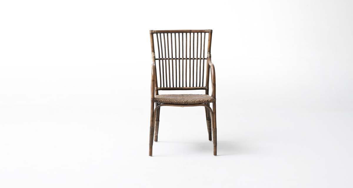 NOVASOLO Wickerworks Duke Spisebordsstol med Armlæn, Flet, Rattan