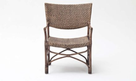 NOVASOLO Wickerworks Squire spisebordsstol med armlæn, Flet, rattan