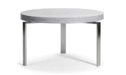 Rundt beton sofabord – plusCIRCLETABLE Ø: 60 cm Hvid