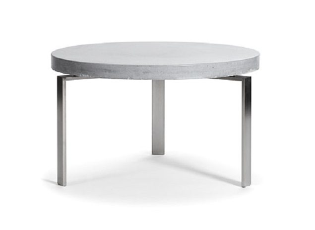 Rundt beton sofabord – plusCIRCLETABLE Ø: 80 cm Hvid