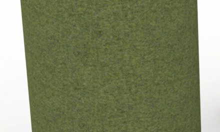 JENSENPLUS K2 puf, ergonomisk, Grøn, Underlag: massiv kork, tekstil