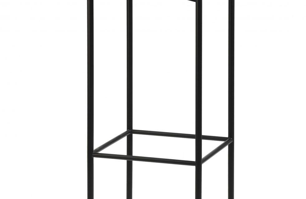 JENSENPLUS BLACKBOX barstol, Sort, Top: linoleum på krydsfinér