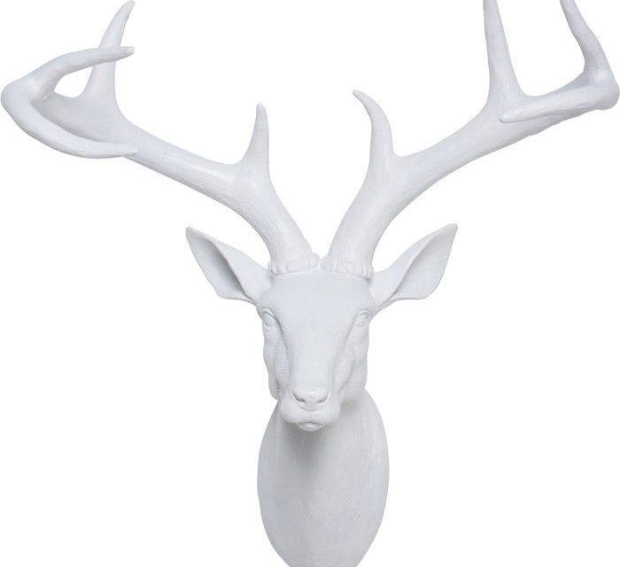KARE DESIGN Vægskulptur, Head Deer Hvid