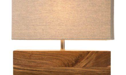 KARE DESIGN Bordlampe, Rectangluar Wood Nature