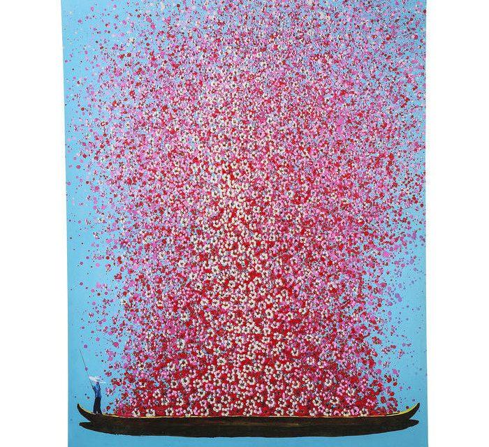 KARE DESIGN Billede, Touched Flower Boat 160x120cm