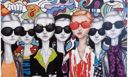 KARE DESIGN Oliemaleri, Sunglasses 90x120cm