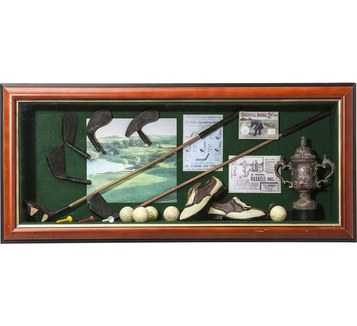 KARE DESIGN Vægdekoration Deco Shadow Box Golfer