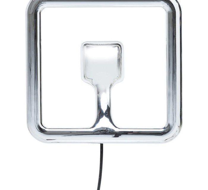 KARE DESIGN Væglampe, Clip Square Krom LED