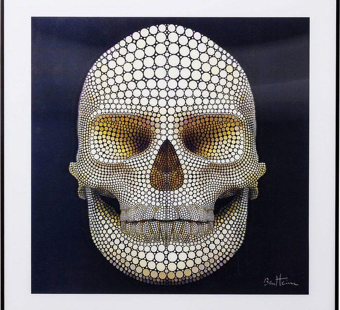 KARE DESIGN Billede, 3D Skull 60x60cm