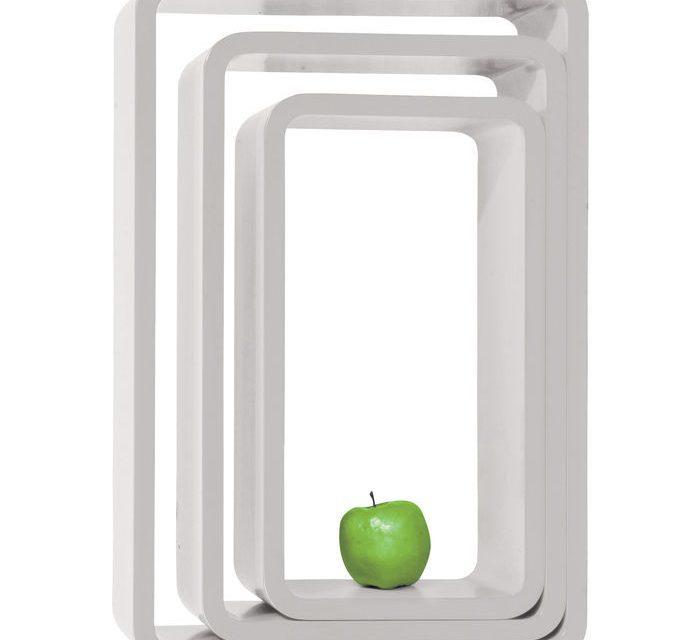 KARE DESIGN Hyldereol, Lounge Cube Oval Hvid (3/Sæt)