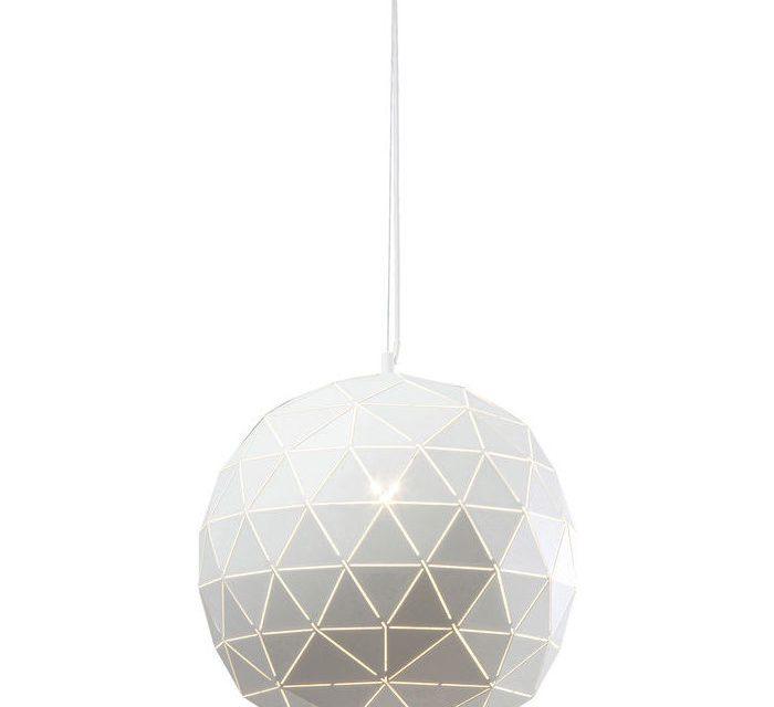 KARE DESIGN Loftlampe, Triangle Hvid Ø40cm