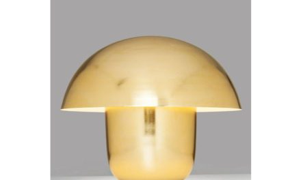 KARE DESIGN Bordlampe, Mushroom Messing