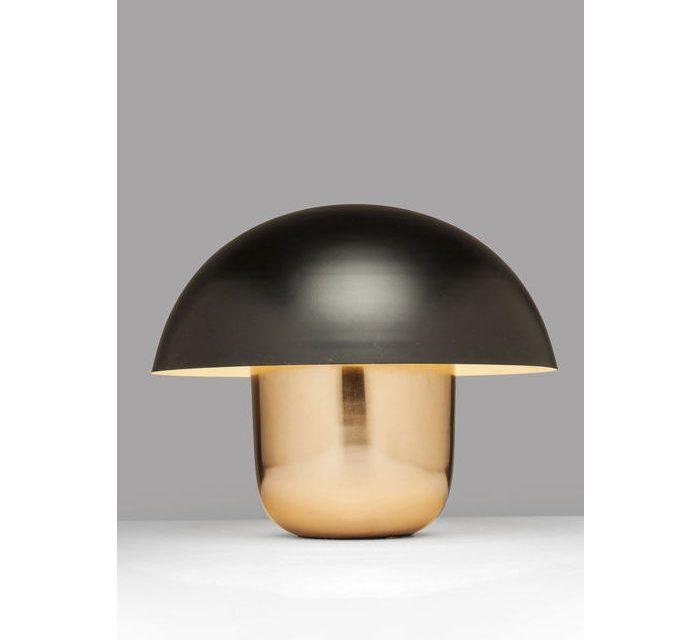 KARE DESIGN Bordlampe, Mushroom Kobber-Sort