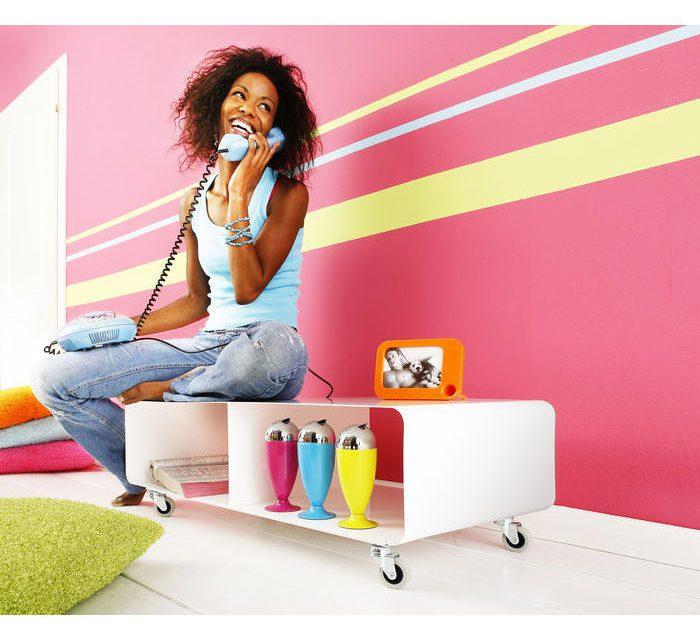 KARE DESIGN Lounge TV-bord med Hjul, Lounge, Hvid