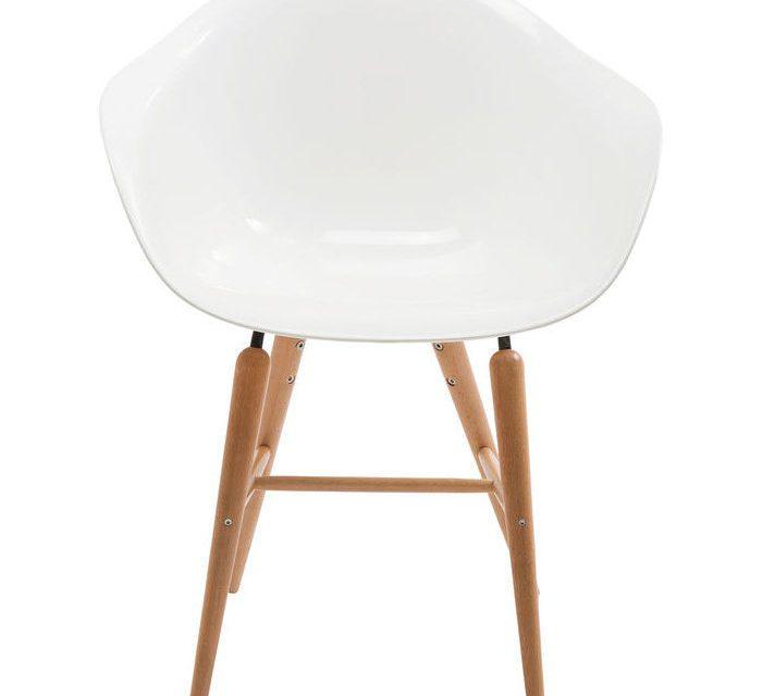 KARE DESIGN Stol med armlæn Forum Wood Hvid
