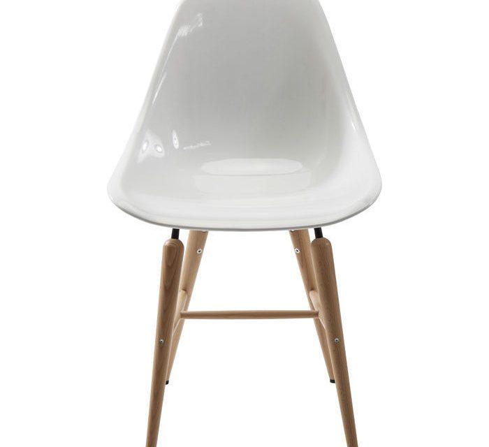 KARE DESIGN Stol, Forum Wood Hvid