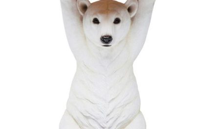 KARE DESIGN Sidebord, Animal Polar Bear Ø37cm