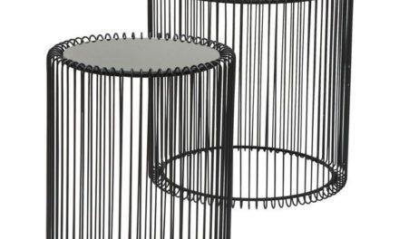 KARE DESIGN Sidebord, Wire Sort (2/Sæt)