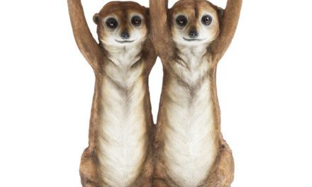 KARE DESIGN Sidebord, Animal Meerkat Sisters Ø33c
