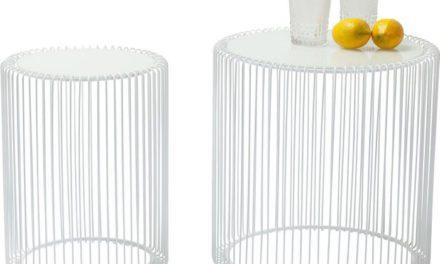 KARE DESIGN Sidebord, Wire Hvid (2/Sæt)