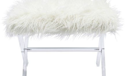 KARE DESIGN Skammel, Visible Fur Hvid