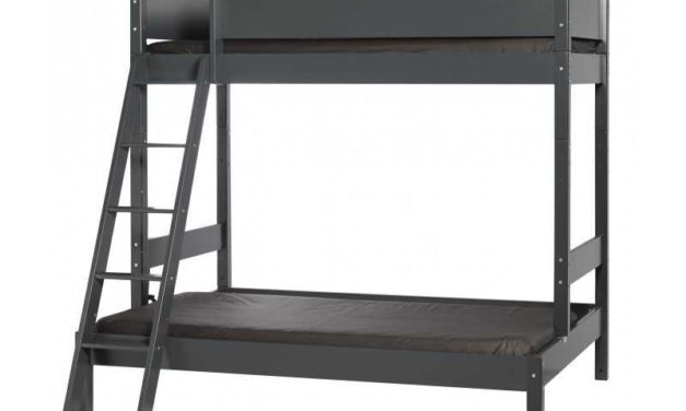 MANIS-H Vale dobbelt køjeseng – antracitgrå (200×90)