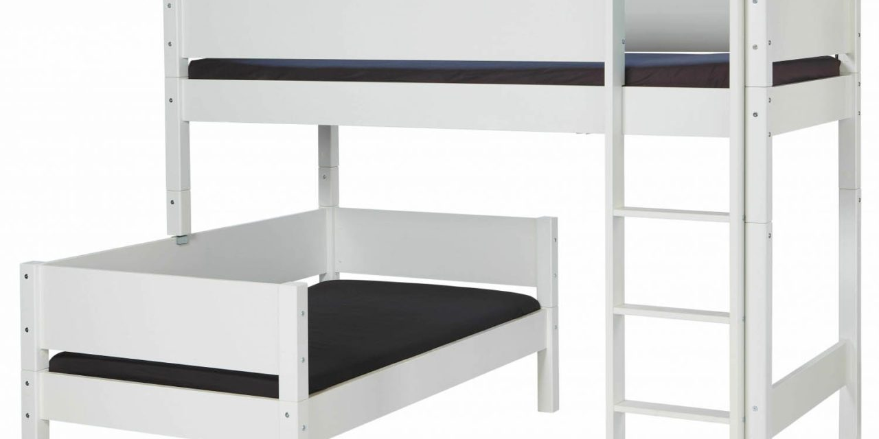 MANIS-H Glen kombi køjeseng – hvid 90×200