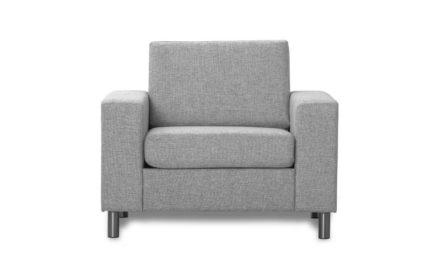 Pisa lænestol – lys granitgrå stof
